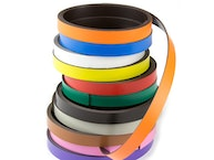 Colourful magnetic tape for cutting and labelling