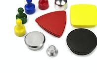 Aimants de bureau avec revêtement en métal ou PVC