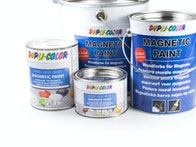 Magnetic paint, chalkboard paint, whiteboard paint