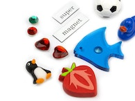 Deco magnets made of acrylic glass, felt, plastic...