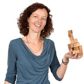 Magnetische houten kubusjes als set