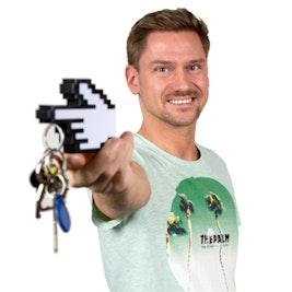 Schlüsselhalter '8-Bit-Hand'