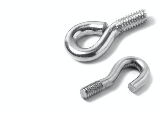 Screw-on hooks
